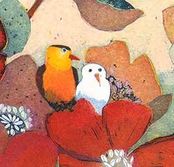Ausschnitt von Grosses Blütenfest von Jutta Votteler