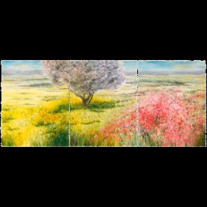 SOMMER – Frühlingswiese Mallorca – Triptychon